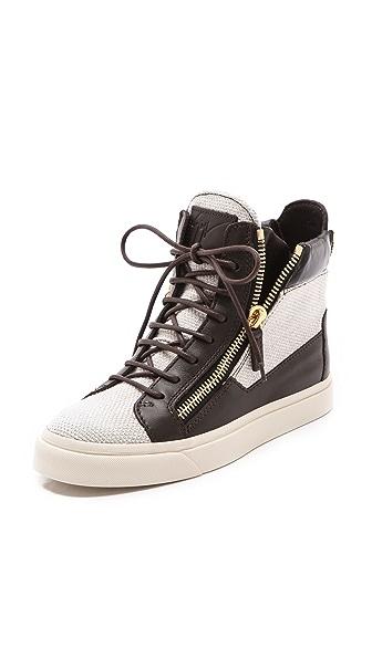 Giuseppe Zanotti Double Zipper Sneakers