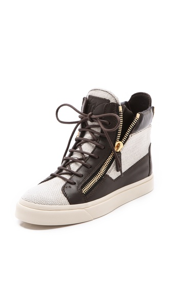 Giuseppe Zanotti Double Zipper Sneakers