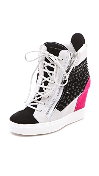 Giuseppe Zanotti Double Zip Wedge Sneakers