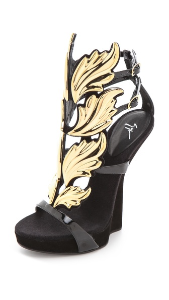 Giuseppe Zanotti Baroque Leaf Sandals