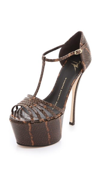 Giuseppe Zanotti T-Strap Platform Sandals
