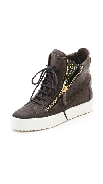 Giuseppe Zanotti London Embellished Zip Sneakers