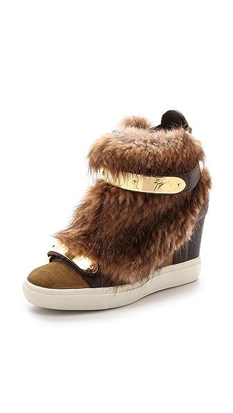 Giuseppe Zanotti Giuseppe Zanotti Furry Sneakers (Brown)