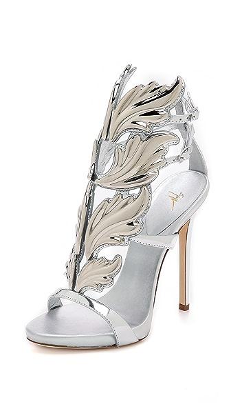 Giuseppe Zanotti Giuseppe Zanotti Metal Wing Sandals (Silver)