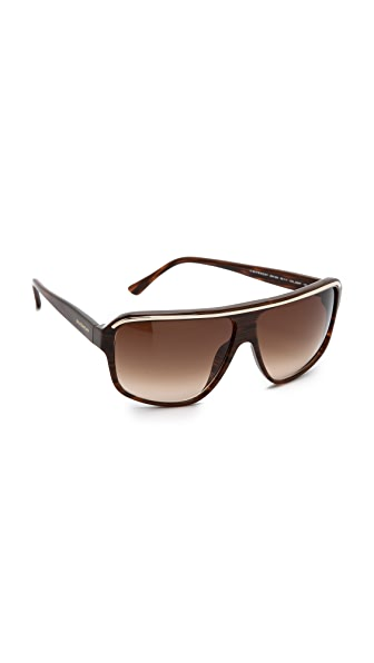 Givenchy Givenchy Metal Flat Top Sunglasses (Multicolor)