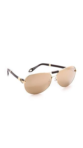 Givenchy Givenchy Aviator Sunglasses (Maroon)