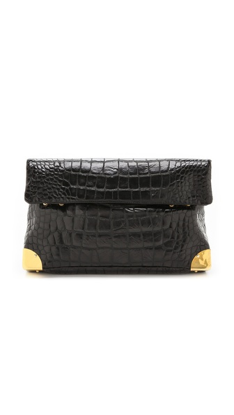 Golden Lane Croc Duo Clutch