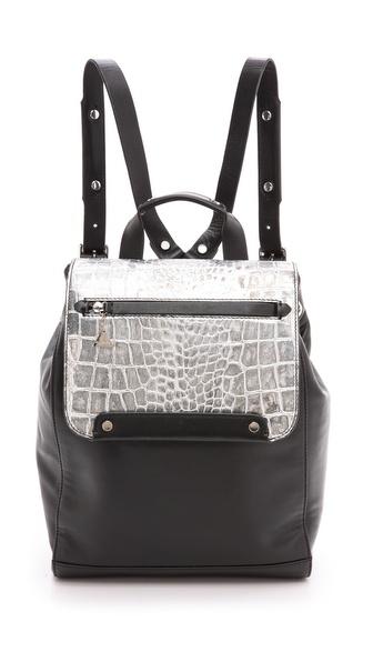Golden Lane Silver Croc Backpack