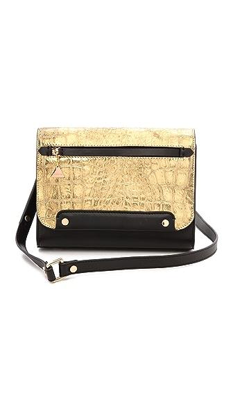 Golden Lane Gold Croc Mini Bag