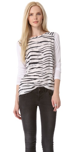 Generation Love Phoenix Animal Print Top