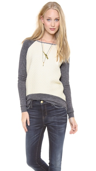Generation Love Wite Popcorn Sweater