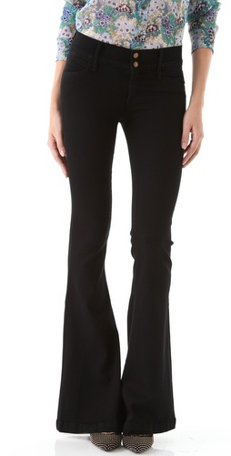 Shop GOLDSIGN Sissi Platform Flare Jeans and GOLDSIGN online - Apparel,Womens,Bottoms,Jeans, online Store
