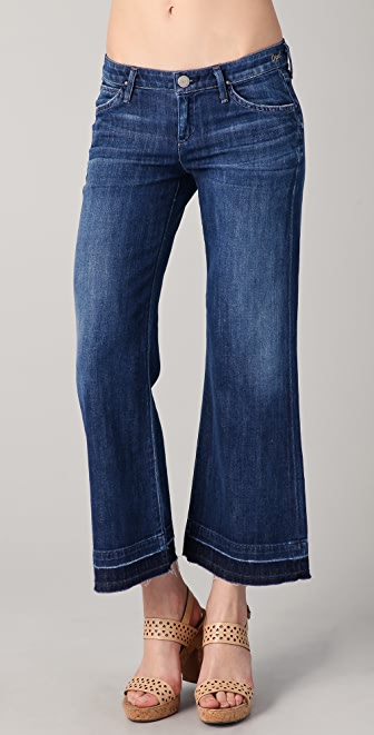 GOLDSIGN Opal Cropped Wide Leg Jeans