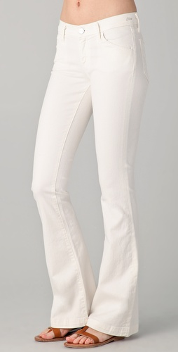 GOLDSIGN Clio Low Rise Skinny Flare Jeans