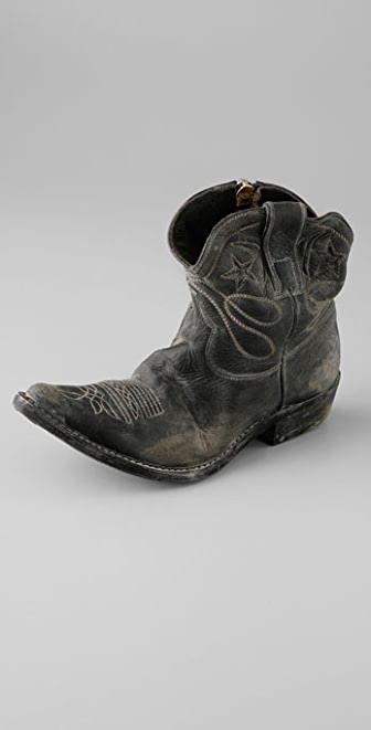 Golden Goose Star Zip Very Distressed Ankle Boots