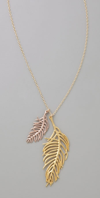 Gorjana Double Feather Necklace