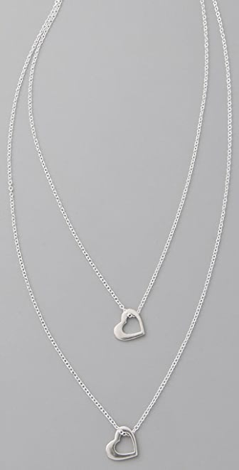 Gorjana Modern Heart Double Strand Necklace