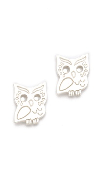 Gorjana Owl Stud Earrings