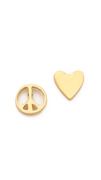 Gorjana Peace & Heart Studs