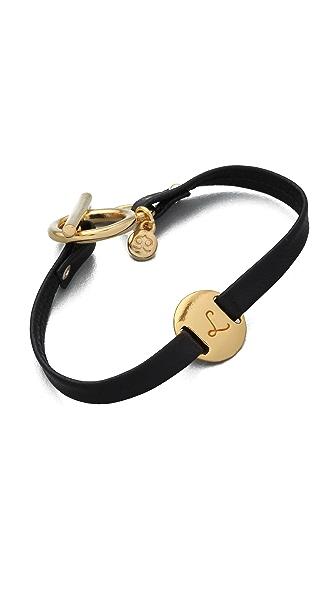 Gorjana Alphabet Leather Bracelet