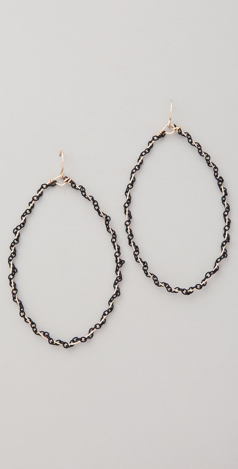 Gorjana Lace Tear Hoop Earrings