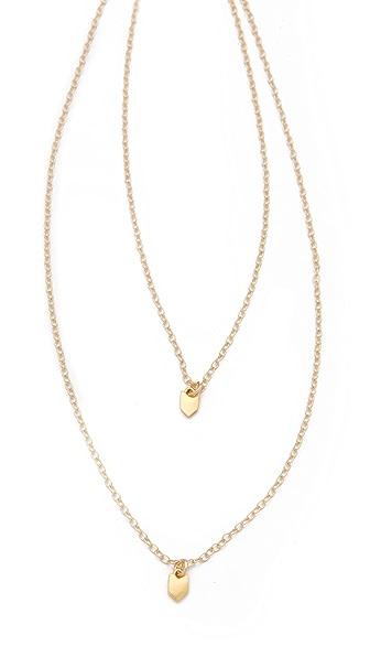 Gorjana Chevron Layered Charm Necklace