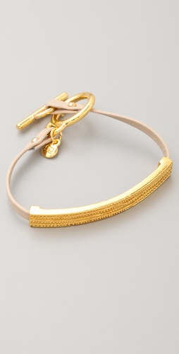 Gorjana Graham Leather Bar Bracelet