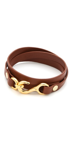 Gorjana Taylor Leather Triple Wrap Bracelet