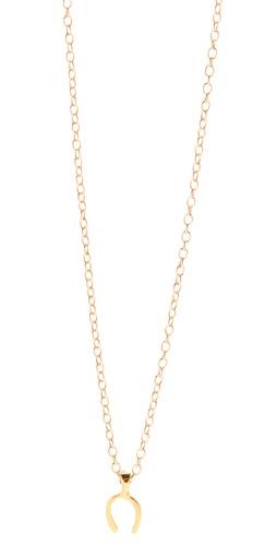 Gorjana Wishbone Charm Necklace