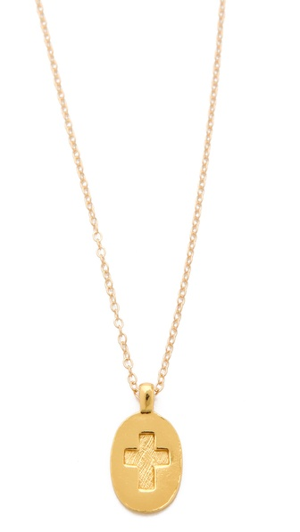 Gorjana Pressed Cross Charm Necklace