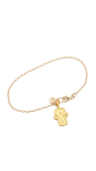Gorjana Hamsa Charm Bracelet