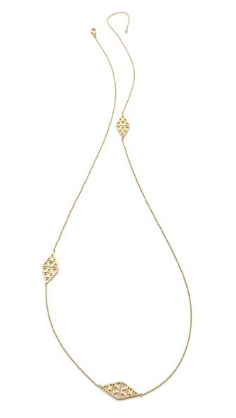 Gorjana Kaia 3 Charm Long Necklace