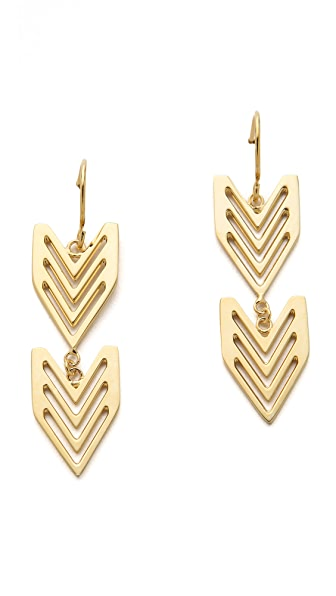 Gorjana Chevron Tribal Earrings