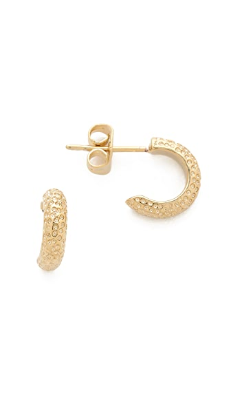 Gorjana Quinn Hammered Mini Hoop Earrings