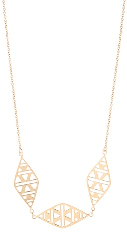 Shop Gorjana Kaia 3 Charm Necklace and Gorjana online - Accessories,Womens,Jewelry,Necklace, online Store