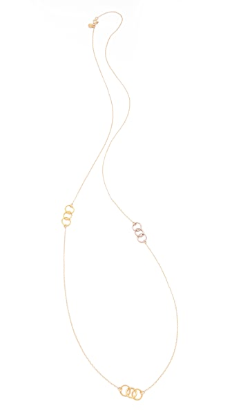 Gorjana Infinity II Three Charm Necklace