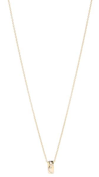 Gorjana Delaney Wave Ring Necklace