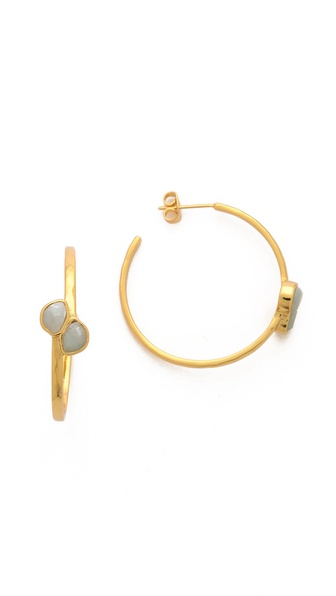 Hoop Earrings | SHOPBOP :  amazonite hoop earrings hoops style