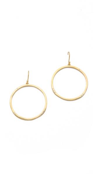 Gorjana Shimmer G Ring Hoops