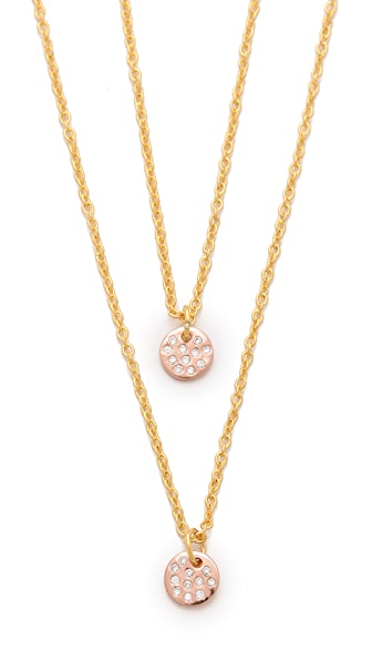 Gorjana 2 Disc Shimmer Necklace