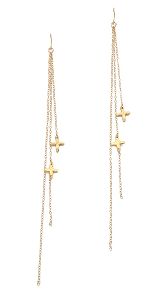 Gorjana Cross Duster Earrings