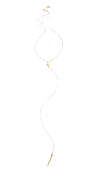 Gorjana Cross Lariat Necklace