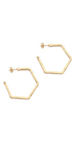 Gorjana Honeycomb Hoop Earrings