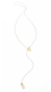 Gorjana Honeycomb Lariat Necklace