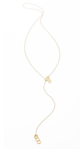 Gorjana Honeycomb Lariat Necklace