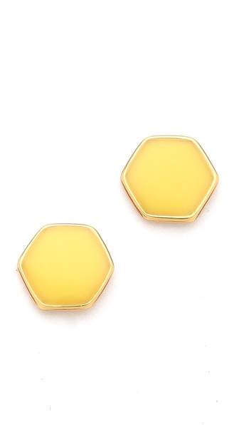 Gorjana Electric Hexagon Stud Earrings