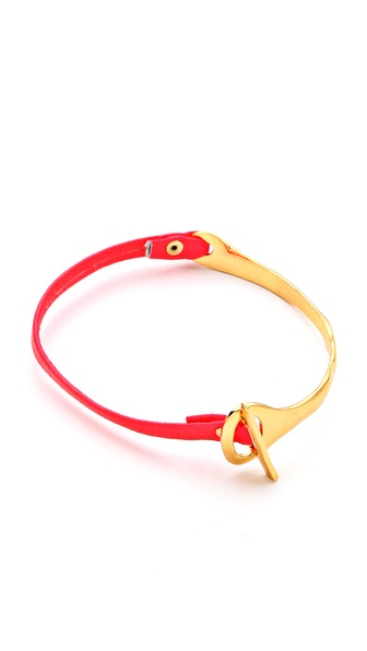 Gorjana Cassia Bar Neon Leather Bracelet
