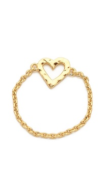 Gorjana Heart Chain Ring