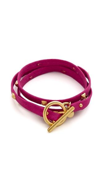Gorjana Graham Sunset Leather Triple Wrap Bracelet