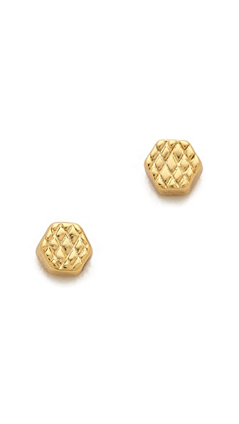 Gorjana Chaplin Crosshatch Stud Earrings